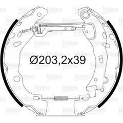 Kit de freins arrière VALEO - 554804