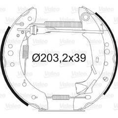 Kit de freins arrière VALEO - 554805
