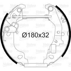 Kit de freins arrière VALEO - 554811