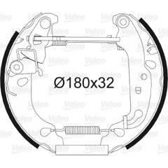 Kit de freins arrière VALEO - 554826