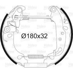 Kit de freins arrière VALEO - 554843
