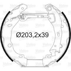 Kit de freins arrière VALEO - 554871
