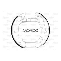 Kit de freins arrière VALEO - 554873