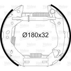 Kit de freins arrière VALEO - 554875