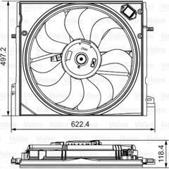 Koelventilator VALEO - 698582