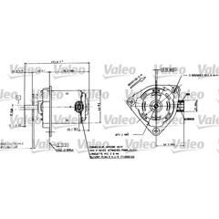 Moteur de ventilateur VALEO - 698084