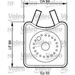 Radiateur d'huile VALEO - 817943