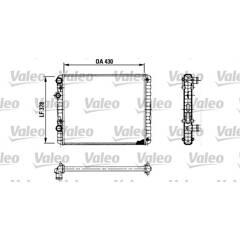 Radiator, engine cooling VALEO - 730956