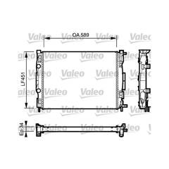 Radiator, engine cooling VALEO - 732946