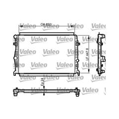 Radiator, engine cooling VALEO - 735556
