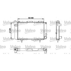 Radiator, engine cooling VALEO - 883463
