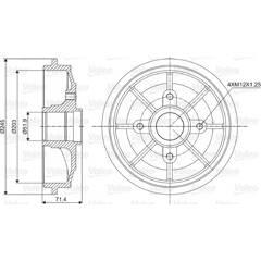 Tambour de frein VALEO - 237016