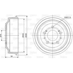 Tambour de frein VALEO - 237028