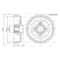 Tambour de frein VALEO - 237034
