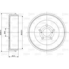Tambour de frein VALEO - 237084