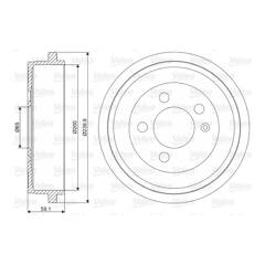 Tambour de frein VALEO - 237099