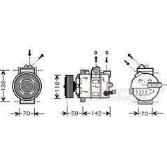 Compressor, air conditioning VAN WEZEL - 0300K029