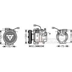 Compressor, air conditioning VAN WEZEL - 2700K219