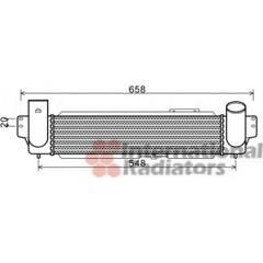 Intercooler, charger VAN WEZEL - 83004141
