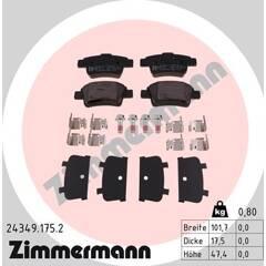 Rear brake pad set (4 pcs) ZIMMERMANN - 24349.175.2